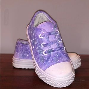 Other - Hand Painted Purple Galaxy Sneakers